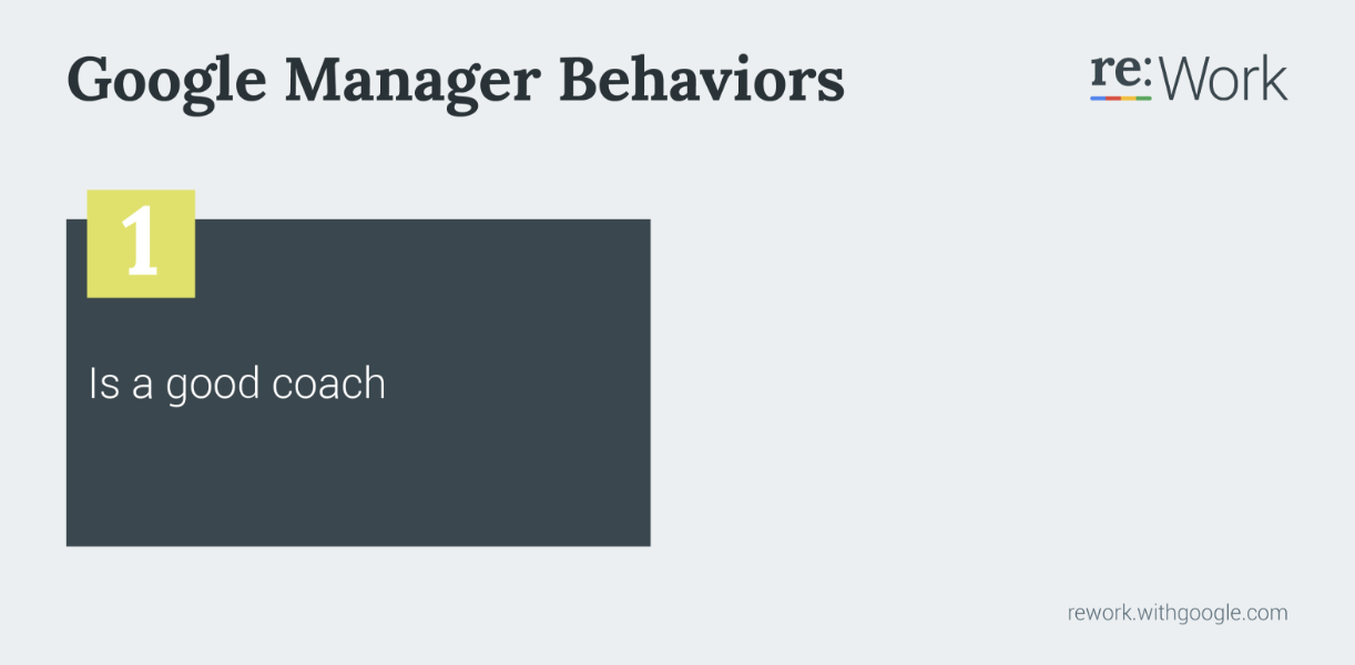 Google: Coach managers to coach